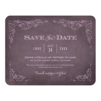 Casando reserva el vino del vintage de la tarjeta invitación 10,8 x 13,9 cm