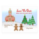 Casando reserva la fecha - escena de la iglesia de tarjetas postales