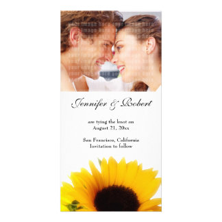 Casando reserva la tarjeta de la foto de la fecha tarjeta con foto personalizada