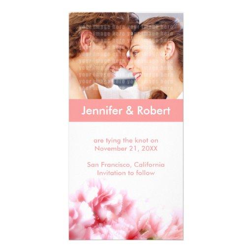 Casando reserva la tarjeta de la foto de la fecha tarjeta personal con foto