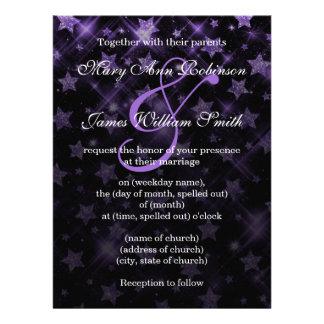 Casando reserva las estrellas púrpuras del brillo comunicado