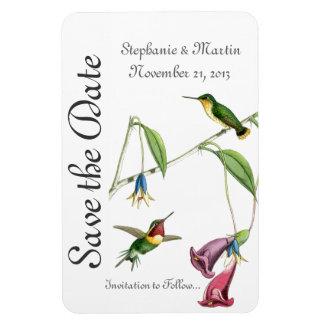 Casando reserva las flores del pájaro de los imanes flexibles
