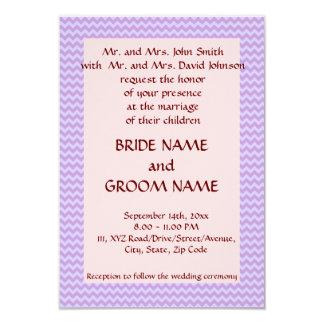 """Casandose - el zigzag violeta, pica el fondo invitación 3.5"""" x 5"""""""