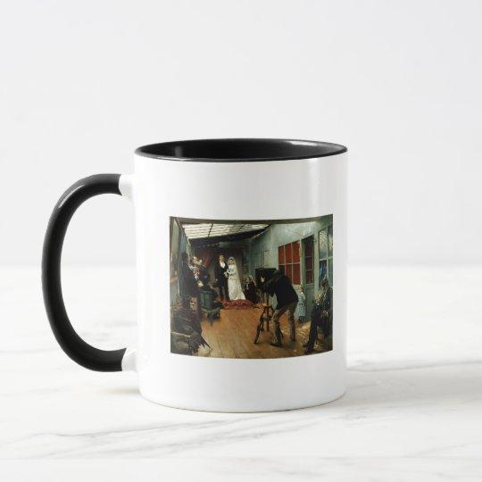Casandose en el fotógrafo, 1878-9 taza