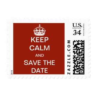 Casandose, guarde la calma y ahorre la fecha timbres postales