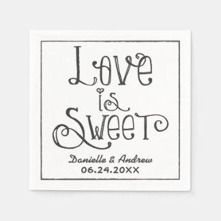 Casandose las servilletas que el amor del | es dul servilletas desechables