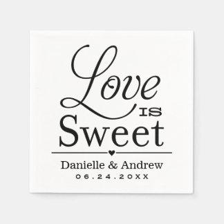 Casandose las servilletas que el amor del   es dul servilletas de papel