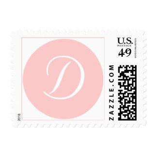 Casandose, toda la ocasión, franqueo del monograma timbre postal