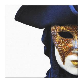 Casanova Carnival Theater Mask Canvas