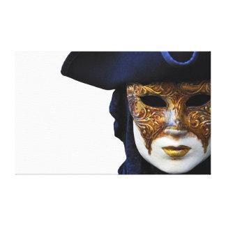Casanova Venice Carnival Theater Mask Canvas Canvas Print