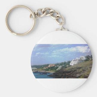Casapueblo Uruguay Basic Round Button Keychain