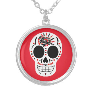 CasaQ Aztec Eagle Calavera Necklace