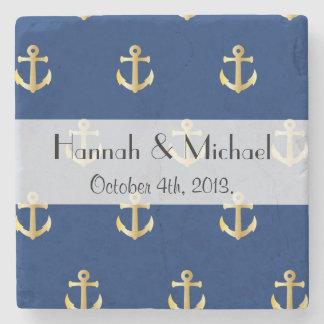Casar - ancla náutica de moda - el oro azul posavasos de piedra