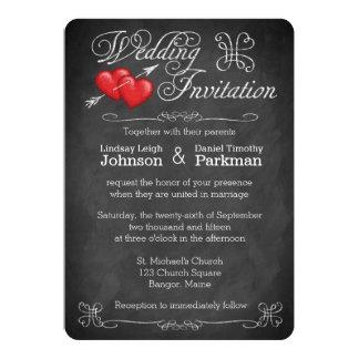 Casar corazones del amor del  , pizarra de las invitación 12,7 x 17,8 cm