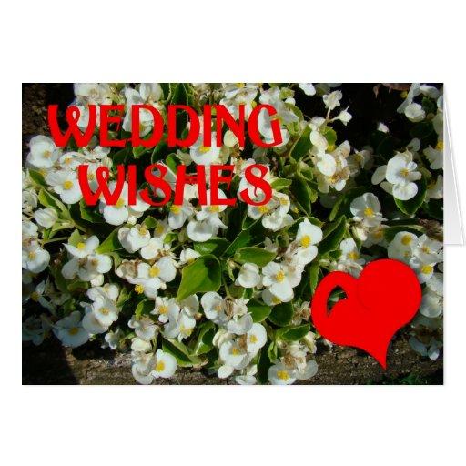 Casar deseos, el corazón y las flores tarjeta de felicitación