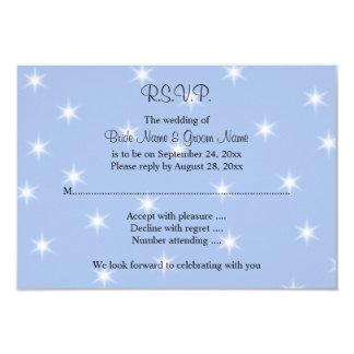 """Casar diseño en azul claro con las estrellas invitación 3.5"""" x 5"""""""