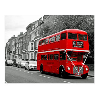 Casar el autobús de dos plantas especial postal
