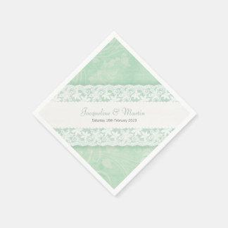 Casar el cordón blanco en servilletas del Libro Servilletas De Papel