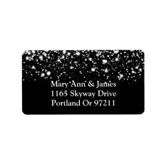 Casar el encanto de medianoche de plata de la etiqueta de dirección