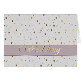 Casar el oro de plata de la enhorabuena tarjeta de felicitación