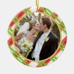 Casar el primer ornamento de la foto del navidad d ornamentos de navidad