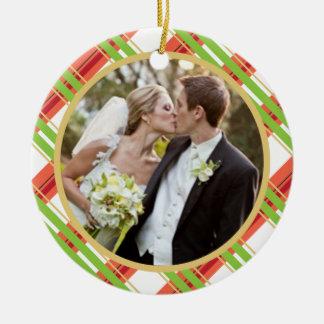 Casar el primer ornamento de la foto del navidad ornamentos de navidad