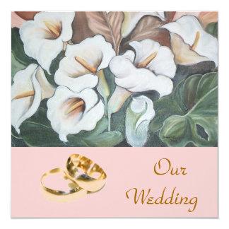 """casar el sistema floral invitación 5.25"""" x 5.25"""""""