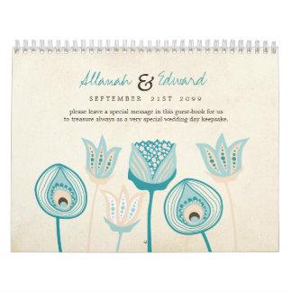Casar Guestbook personalizado del libro de visitas Calendario