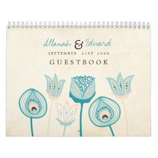 Casar Guestbook personalizado del libro de visitas Calendarios