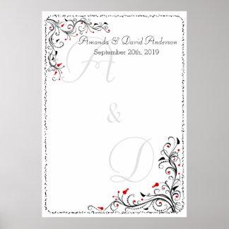 Casar la carta o el Guestbook del asiento del Póster
