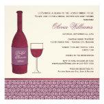 Casar la ducha nupcial invita a tema del vino del invitación personalizada