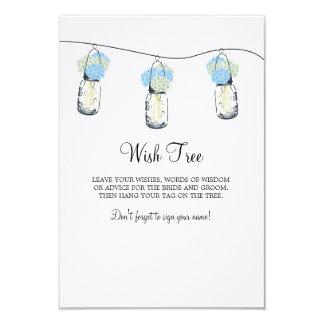 """Casar la etiqueta del árbol del deseo invitación 3.5"""" x 5"""""""