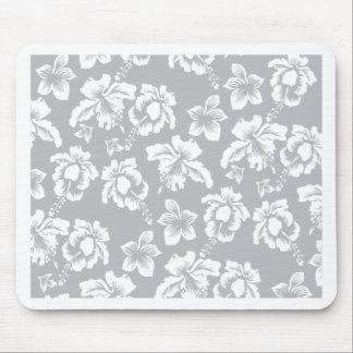 Casar la flor blanca hawaiana tapete de ratón