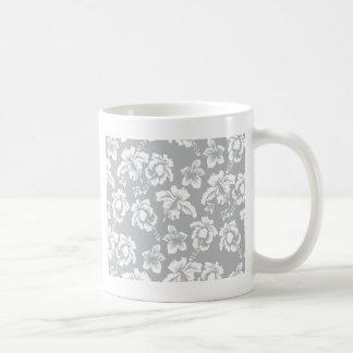Casar la flor blanca hawaiana taza