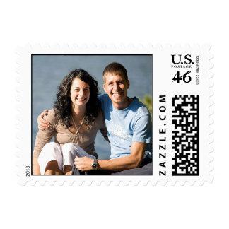 Casar la foto postal de los sellos