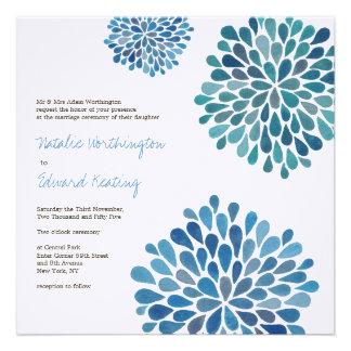 Casar la invitación de las floraciones de la flor