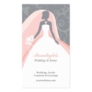 Casar la tarjeta de visita blanca nupcial del vest