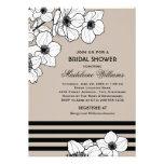 Casar las flores nupciales de la anémona de la inv invitacion personalizada