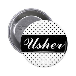 Casar los botones del pinback del ujier pin redondo de 2 pulgadas