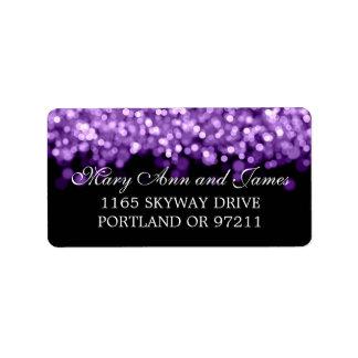 Casar luces de la púrpura de la dirección etiqueta de dirección
