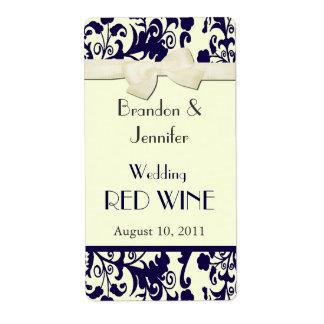 Casar mini etiquetas del vino etiqueta de envío