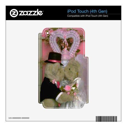 Casar osos bajo corazón skins para iPod touch 4G