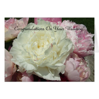 Casar Peonies rosados/la tarjeta de felicitación r
