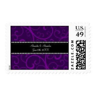 Casar remolinos de la púrpura de los favores sellos