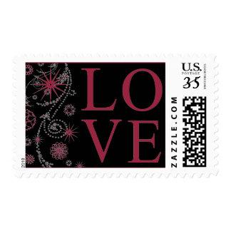 Casar rojo de rubíes del diseño creativo del amor sellos postales
