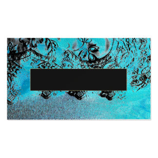 casar tarjetas de visita azules del cordón negro