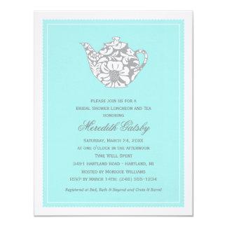 Casar tema nupcial de la merienda-cena de la invitación 10,8 x 13,9 cm