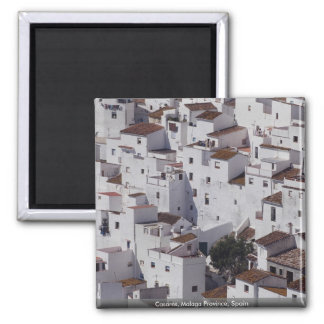 Casares, Malaga Province, Spain 2 Inch Square Magnet