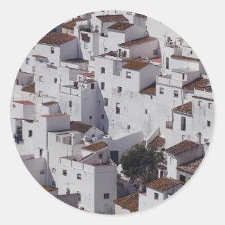 Casares, Malaga Province, Spain Classic Round Sticker