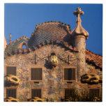 Casas Batilo, arquitectura de Gaudi, Barcelona, Azulejo Cuadrado Grande